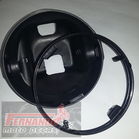 Carcaça+aro Do Farol Yamaha Ybr 125 - Preto