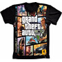 Camiseta Gta V 5 Games Adulto Grand Theft Auto V 5 Estampada
