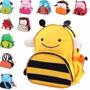 2 Mochila Infantil Animais Escola Bebê Stilo Creche Escola