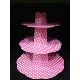 Torre Para Cupcakes Muffins Pack X 3