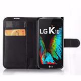 Capa Carteira Celular Lg K10 Tela 5.3 Case Porta Cartao Top