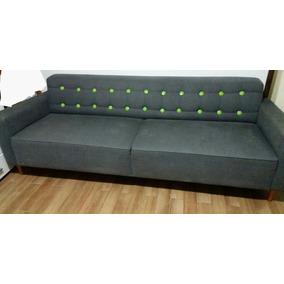 Sofa Jeans Botone Tok Stock 2 Lugares 2,20 Cm Oportunidade