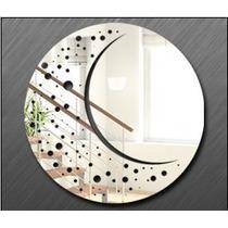 Espelho Sala Quarto Mandala Decorativo Acrílico Redondo 70cm