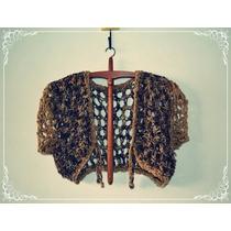 Tolerita - Bolero - Lana Tejido Al Crochet - Diseño Único
