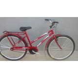 Bicicleta Aro 26 Mod. Poti Cor Vermelha C/ Cesta