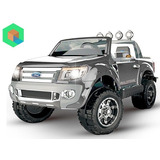 Camioneta Ford Ranger A Bateria Para Dos Niños - Silver