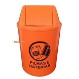 Coletor Descarte De Pilhas E Baterias De Balcão Com Adesivo