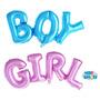 Balão Boy Menino Ou Girl Menina Decor Chá De Bebê Revelação