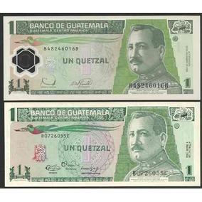 Grr-2 Billetes Guatemala 1 Quetzál 1990-2012, Papel-plástico