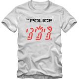 The Police Camiseta Tradicional T-shirt Algodão 30.1 Silk