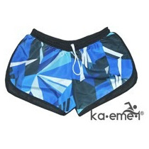 Short Cool Blue Dama Playa Pileta Gym Fitness Secado Rápido