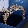 Tiara Coroa Arranjo Para Cabelo De Noiva Formatura Banhada