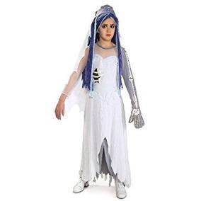 Disfraz Para Niña Traje De Novia Cadáver De Tim Burton, Med