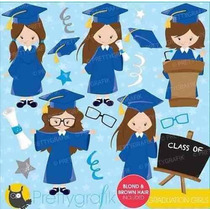 Kit Imprimible Graduacion Nenas 2 Imagenes Clipart
