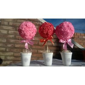 Toparios De Flores De Papel Crepe X 10 U.
