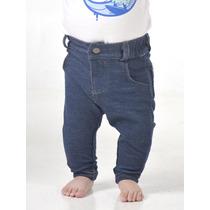 Jean Unisex De Punto Elastico Azul Pecosos