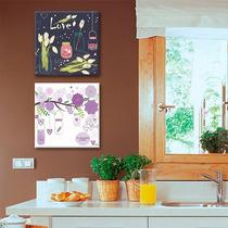 Cuadros Decorativos 2 Pz 30x30 Frascos De Cocina