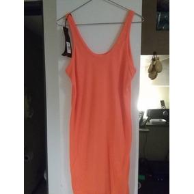 Vestido Allo Martinez Talle 44 M Naranja Flou