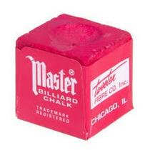 1 Giz Master Vermelho Original Profissional Sinuca Snooker