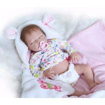 Bebe Reborn Boneca Menina 3/4 Silicone 55 Cm Sob Encomenda