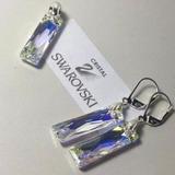 Conjunto Aros Y Dije De Cristal Swarovski Y Plata 925