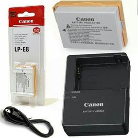 Bateria Canon Lp-e8 Original +carregador Lc-e8c T3i T4i T5i