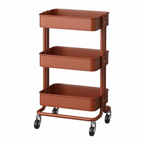 Carrito De Servicio Ikea Rojo/marrón (ladrillo)