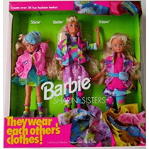Juguete Barbie Sharin Hermanas Gift Set Barbie Stacie Skipp