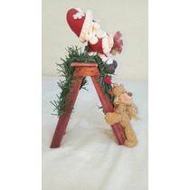 Adorno Navidad Santa Claus Porcelana Fria Pasta Francesa