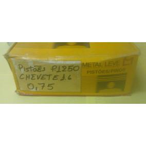 Jogo De Pistões Chevette/ Marajo 1.6 Gasolina 075 Com Aneis