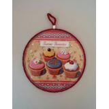 Cuadrito Posapavas Decoracion Vintage Cafe Cupcakes Navidad