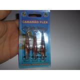 Isca Artificial Camarão Flex - 8 Cm - Cor 6 - Fat - Silicone