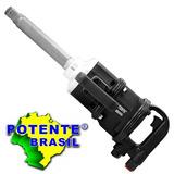 Chave De Impacto Pneumática Longa 1 Pol 220kf Potente Brasil