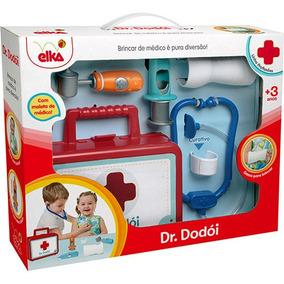Kit Médico Dr Dodói Brincando De Médico Elka C/ Selo Inmetro