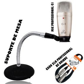 Microfone Behringer C1+ Suporte De Mesa + Cabo Profissional