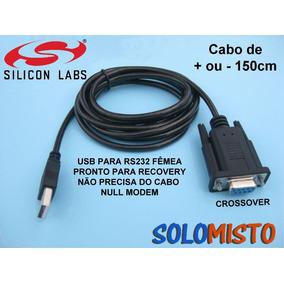 Adaptador Usb Serial Rs232 Db9 Femea - Cabo Para Recovery