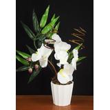 Arranjo De Orquideas Artificial Vasos Flores Artificiais Lin