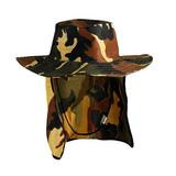 Chapéu Canavieiro Australiano Camuflado Protetor Sol Pesca