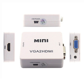 Convertidor Vga A Hdmi 1080p Adaptador Audio Video Laptop Pc