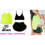 Top Retenedor Sosten / Short / Blusa Nike Deportivos Gym