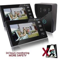 Portero Visor Inalambrico 2 Monitores Toma Fotos Abre Puerta