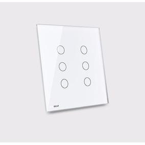 Interruptor Touch Livolo 6 Botões Branco 4x4 Remote Paralelo