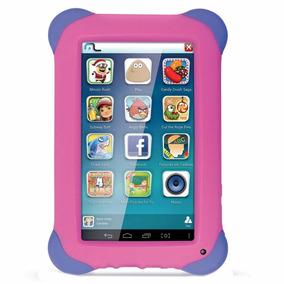 Tablet Infantil Emborrachado Antiqueda Câmera Wifi Rosa Pink