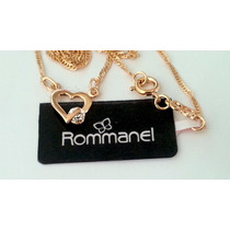 Rommanel Gargantilha Semi Joia Coração Feminino 531182 P