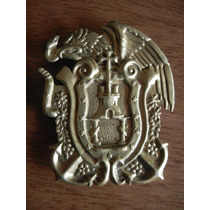 Escudo Metal Dorado Escuela Naval Militar