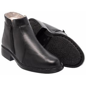 Bota Botina Ziper Masculino Couro Mestiço Tchwm Shoes Ref080