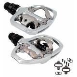 Pedal Shimano Clip Pd A520 Prata Com Taquinhos Mtb Bike