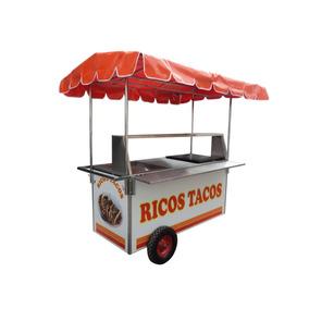 Carrito Para Tacos Carro Puesto Carreta Acero Inox