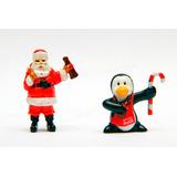 Santa Claus Y Pingüino Villa Navideña Coca Cola