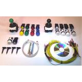 Kit Mame Arcade Multijuego Usb+cables+2 Palancas +18 Botones